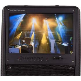 """Ibiza Sound  PORT-TFT12 - Mobiel oplaadbaar karaoke systeem met 15"""" TFT kleurenmonitor - monitor"""