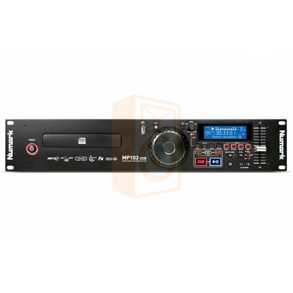 Numark MP103USB voor aanzicht en bediening