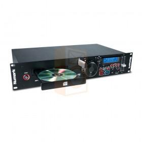 Numark MP103USB schuin aanzicht met CD lade open
