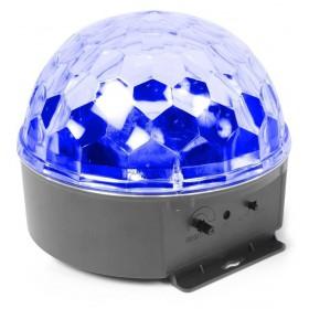 BeamZ Mini Star Ball Sound RGBAW LED 6x3W blauw effect
