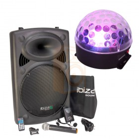 Ibiza Sound PORT15VHF-BT met ASTRO-BAT Licht Effect compleet