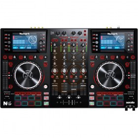 Numark NV II Digitale DJ Controller 4 kanalen voorkant bediening