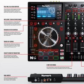 Numark NV II Digitale DJ Controller 4 kanalen uitleg links