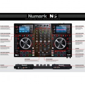 Numark NV II Digitale DJ Controller 4 kanalen uitleg overzicht