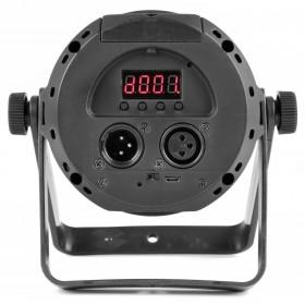 BeamZ PLS30 - 10W RGBW LED Spot met ingebouwde accu aansluitingen, achterkant