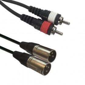 AC-2XM-2RM/1,5 2x XLR male/2 x RCA 1,5m