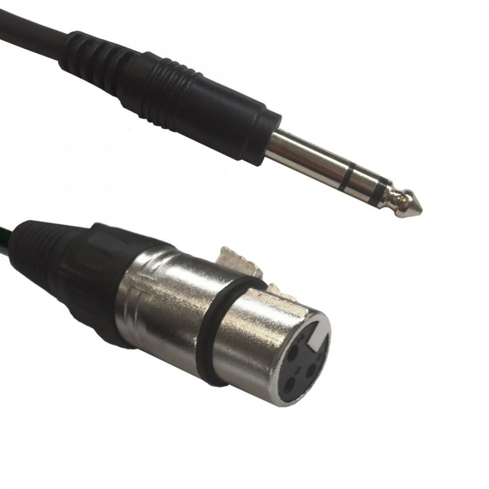 AC-XM-J6S/3 XLR male to 6,3 Jack Stereo