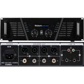 IBIZA Sound AMP1000 - 2x800W max. Versterker voor en achter