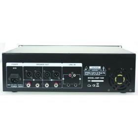 IBIZA Sound AMP1000 - 2x800W max. Versterker aansluitingen zwart black