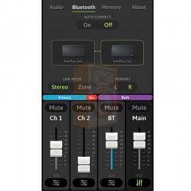 Mackie FreePlay LIVE Draadloze PA Bluetooth Speaker - app overzicht bluetooth koppeling stereo mono optie