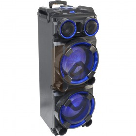 Ibiza Sound STANDUP-DJ-MKII Mobiele DJ box 300W met usb, bluetooth & draadloze microfoon - hoofdafbeelding voorkant speakers