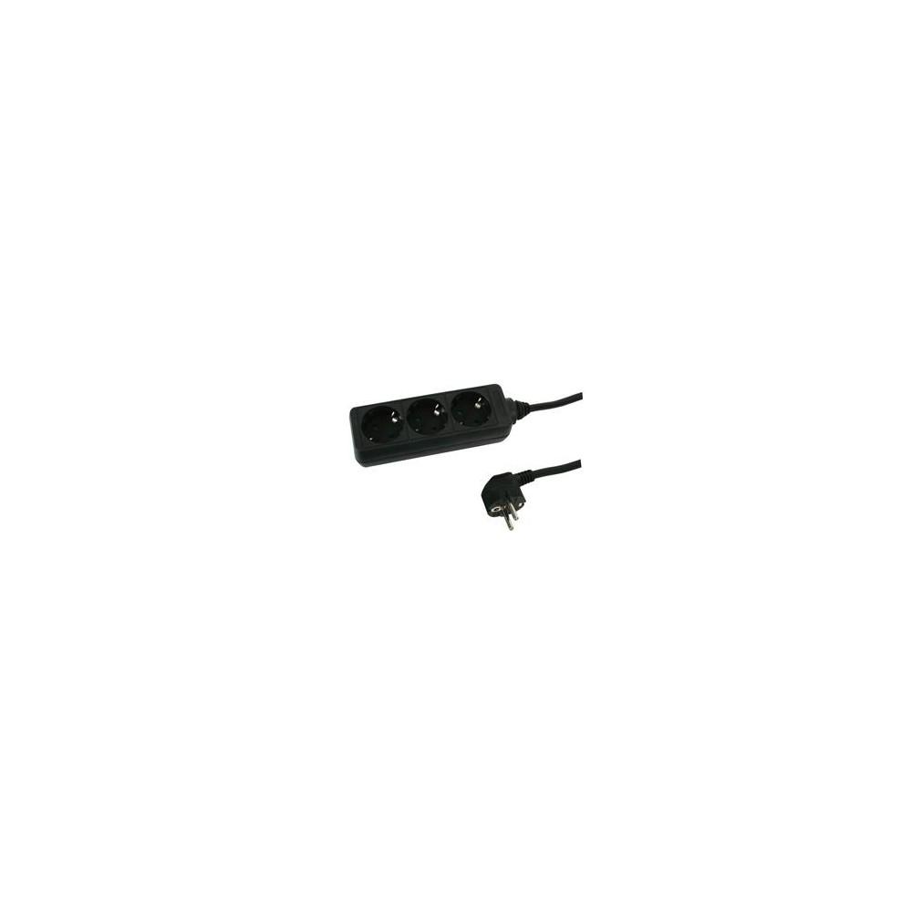 3 voudige Stekkerdoos zonder schakelaar 3m - stekkerblok met stekker