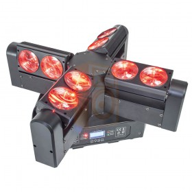 AFK Blade8-FX - 4 Head moving head met eindeloze rotatie rood links