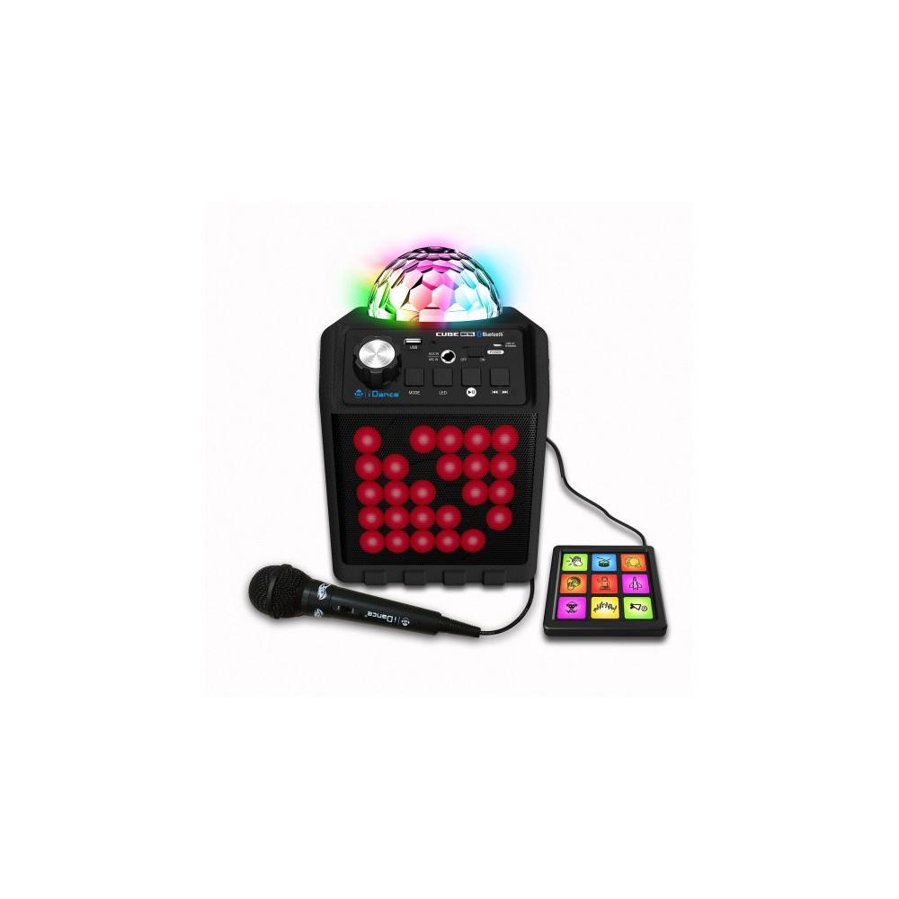 iDance Disco Cube BC5L BLACK - Draadloze bluetooth speaker met drum pad en microfoon