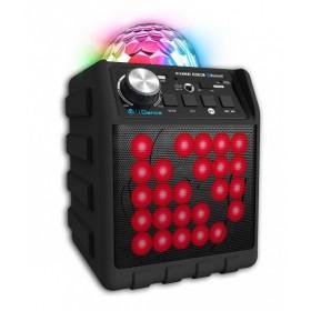 Schuin vooraanzicht - iDance Disco Cube BC5L BLACK - Draadloze bluetooth speaker