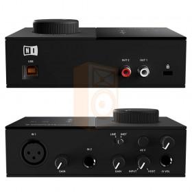 Native instruments Komplete audio 1 Audio interface geluidkaart - voor en achterkant aansluitingen