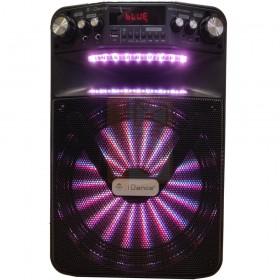 Idance Groove 508X - 500 watt draadloze speaker set met usb, bluetooth en 2 draadloze microfoons