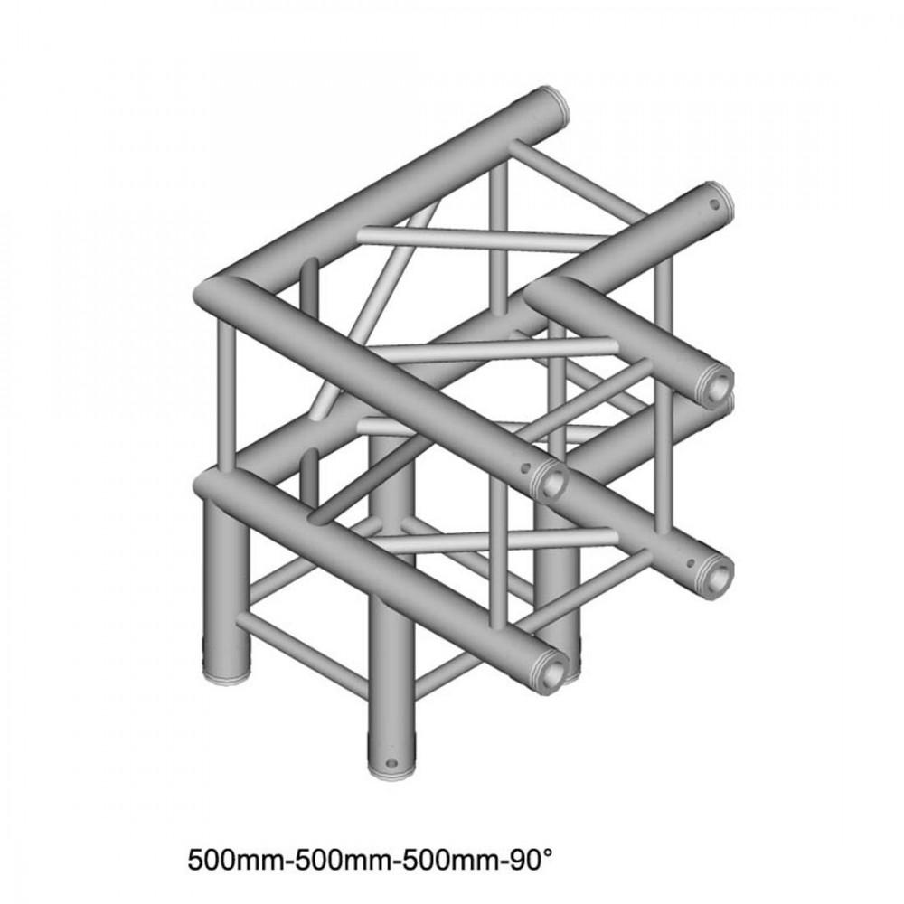 Duratruss DT 34/2 C30-LD 90-graden Hoek+omhoog