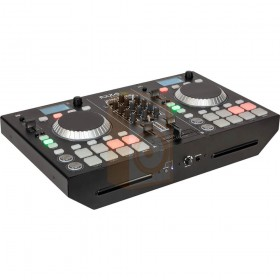 Ibiza sound Ultra-station - DJ Set met2 Decks mixer en cd, usb en bluetooth