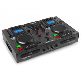 Vonyx CDJ450 - Twin Top CD/MP3/USB Speler/Mixer met Bluetooth hoofd afbeelding