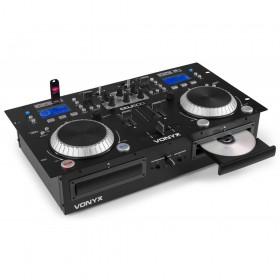 Vonyx CDJ500 - Dubbele Speler met versterker CD/MP3/USB/Bluetooth links open
