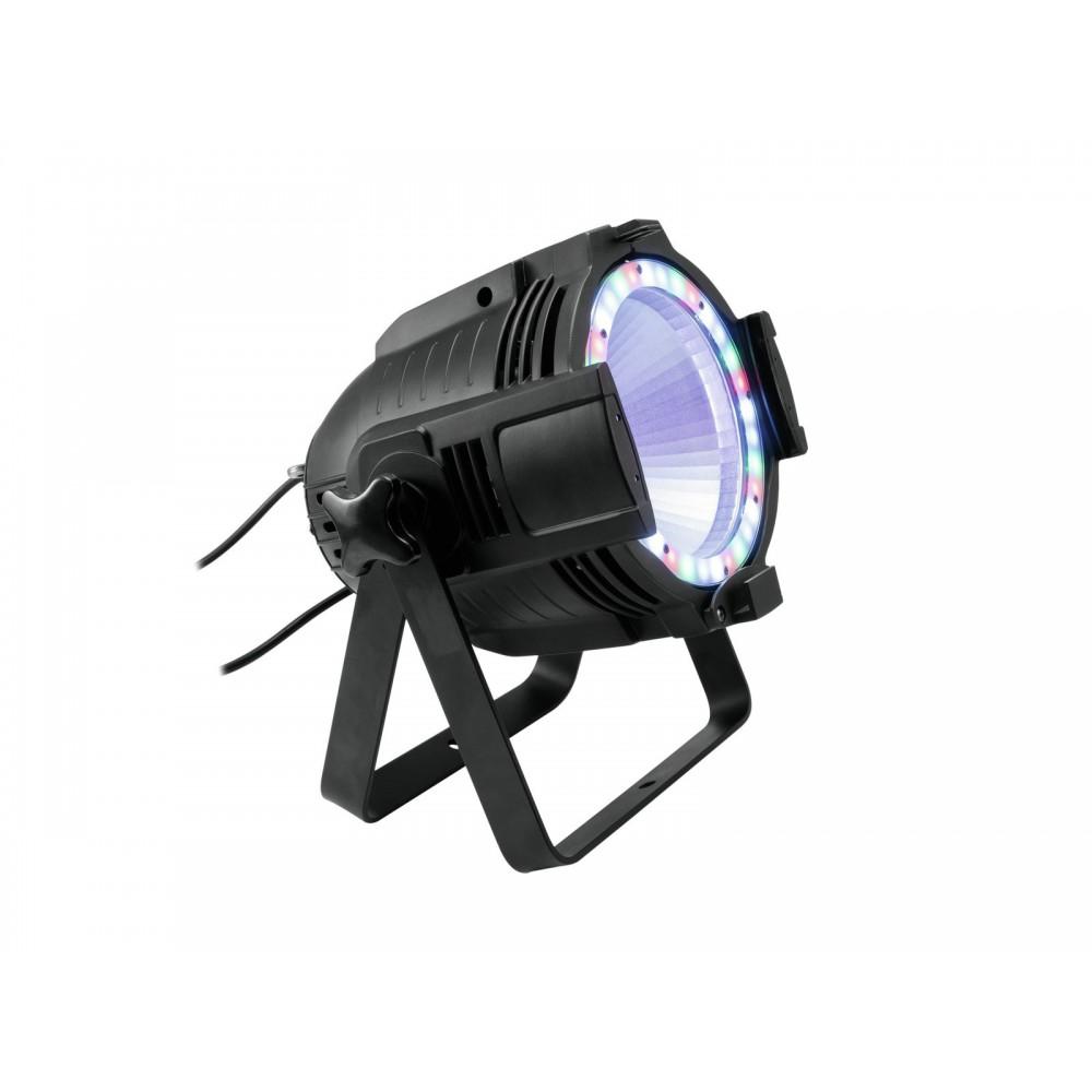 EUROLITE LED ML-56 COB RGBAWUV Hypno Floor bk - 6 in 1 COB LED Spot met RGB SMD ring hoofdafbeelding
