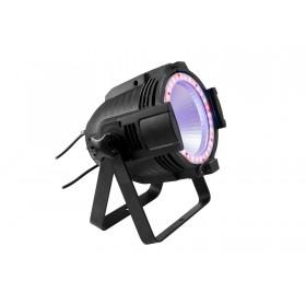 EUROLITE LED ML-56 COB RGBAWUV Hypno Floor bk - 6 in 1 COB LED Spot met RGB SMD ring paar met led ring