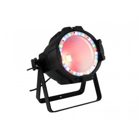EUROLITE LED ML-56 COB RGBAWUV Hypno Floor bk - 6 in 1 COB LED Spot met RGB SMD ring rood met led ring