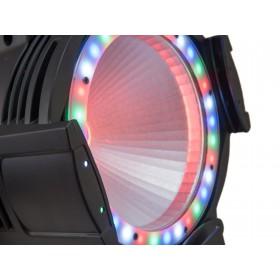EUROLITE LED ML-56 COB RGBAWUV Hypno Floor bk - 6 in 1 COB LED Spot met RGB SMD ring close up