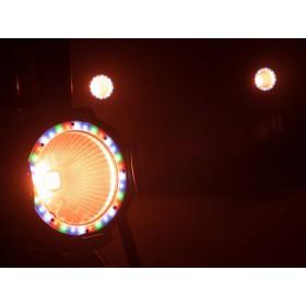 EUROLITE LED ML-56 COB RGBAWUV Hypno Floor bk - 6 in 1 COB LED Spot met RGB SMD ring show 2