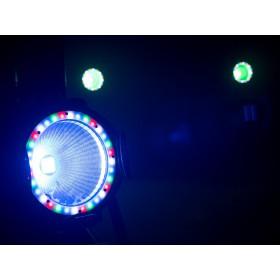 EUROLITE LED ML-56 COB RGBAWUV Hypno Floor bk - 6 in 1 COB LED Spot met RGB SMD ring show 1