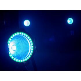 EUROLITE LED ML-56 COB RGBAWUV Hypno Floor bk - 6 in 1 COB LED Spot met RGB SMD ring show 3