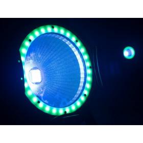 EUROLITE LED ML-56 COB RGBAWUV Hypno Floor bk - 6 in 1 COB LED Spot met RGB SMD ring show 4
