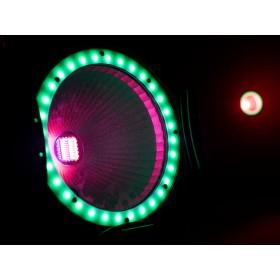EUROLITE LED ML-56 COB RGBAWUV Hypno Floor bk - 6 in 1 COB LED Spot met RGB SMD ring show 5