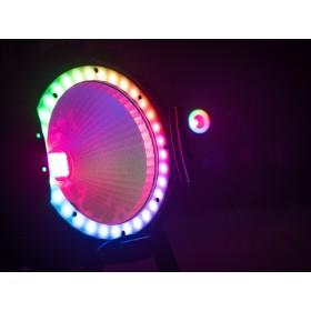 EUROLITE LED ML-56 COB RGBAWUV Hypno Floor bk - 6 in 1 COB LED Spot met RGB SMD ring show 7