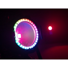 EUROLITE LED ML-56 COB RGBAWUV Hypno Floor bk - 6 in 1 COB LED Spot met RGB SMD ring show 6