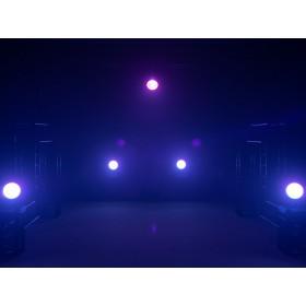 EUROLITE LED ML-56 COB RGBAWUV Hypno Floor bk - 6 in 1 COB LED Spot met RGB SMD ring show 10