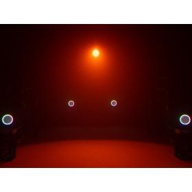 EUROLITE LED ML-56 COB RGBAWUV Hypno Floor bk - 6 in 1 COB LED Spot met RGB SMD ring show 11