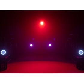 EUROLITE LED ML-56 COB RGBAWUV Hypno Floor bk - 6 in 1 COB LED Spot met RGB SMD ring show 8