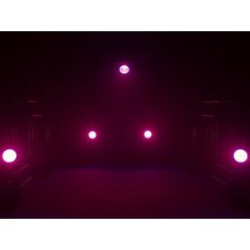 EUROLITE LED ML-56 COB RGBAWUV Hypno Floor bk - 6 in 1 COB LED Spot met RGB SMD ring show 12