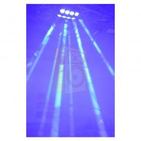 Ibiza light Spider LED8-QUAD - RGBW Cree Led licht effect blauw