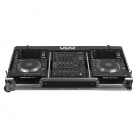 UDG Ultimate Flight Case Set Denon DJ SC5000/ X1800 Silver Plus voorkant