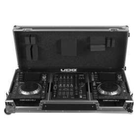 UDG Ultimate Flight Case Set Denon DJ SC5000/ X1800 Silver Plus voorkant 3