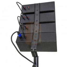 BST Pro HELIOS2.1 - Actief 2.1 Line Array PA Systeem - aansluiting van de satelliet speakers