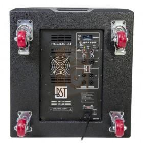 """BST Pro HELIOS2.1 - Actief 2.1 Line Array PA Systeem - achterkant 18"""" subwoofer, aansluitingen en bediening"""