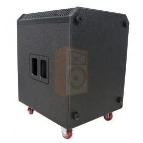 BST Pro HELIOS2.1 - Actief 2.1 Line Array PA Systeem - subwoofer geleverd met wielen voor makkelijk transport