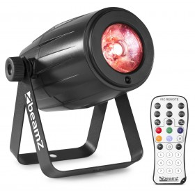 BeamZ PS12W -  RGBW LED Spot 12W rood
