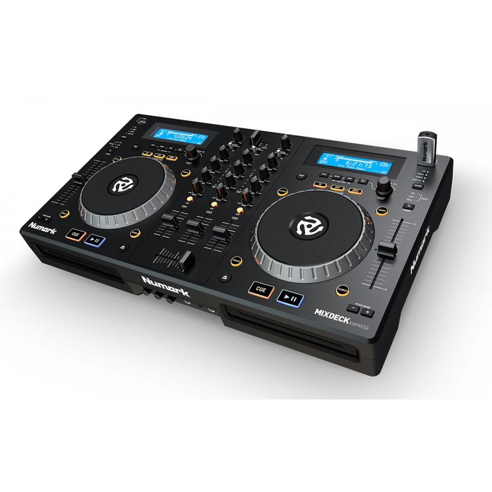 Numark Mixdeck Express V2 DJ Controller met CD en USB - schuin voor