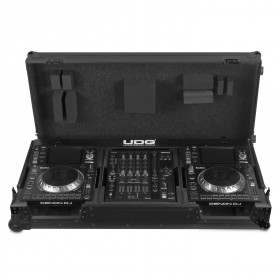 UDG Ultimate Flight Case Set Denon DJ SC5000/ X1800 Zwart Plus - Prime Set case incl wielen