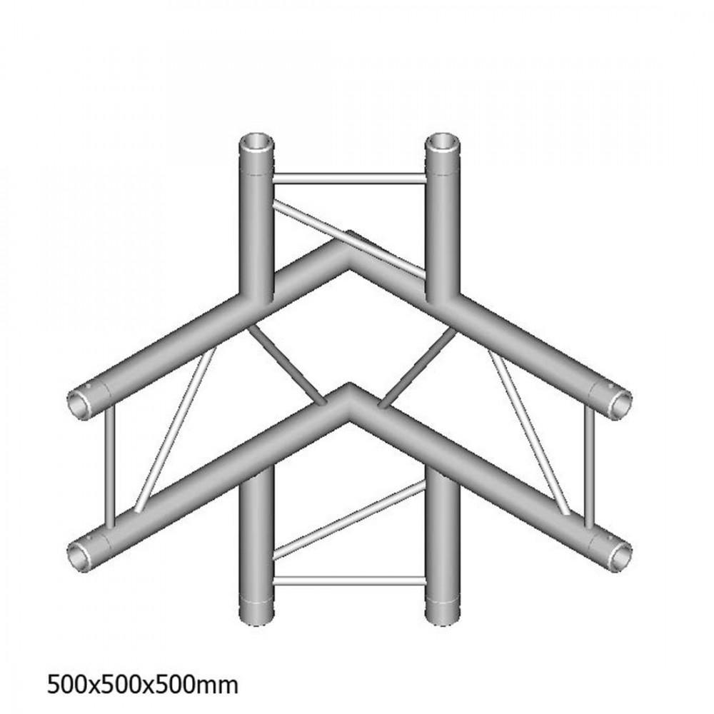 DuraTruss DT 22-C44V-LUD - 4-voudige hoek 90 ° + omhoog + omlaag horizontaal